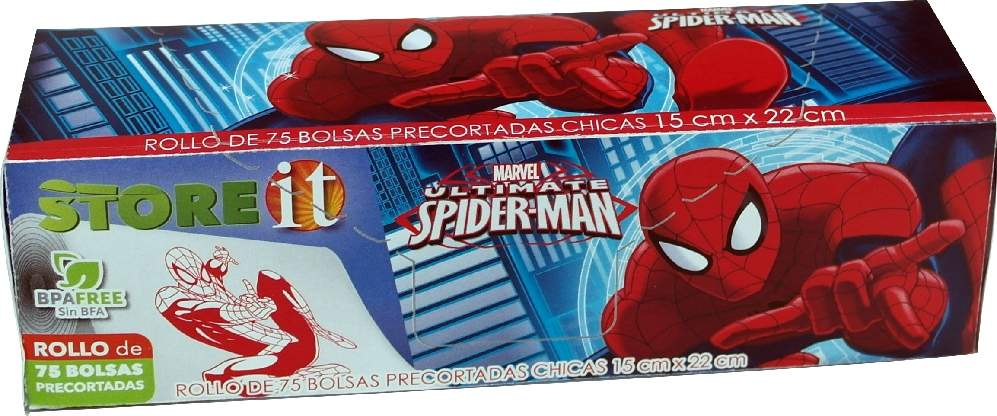 Bolsa Rollo Spiderman 15 X 22 Cm 75 Pzas Disney82114 Store It