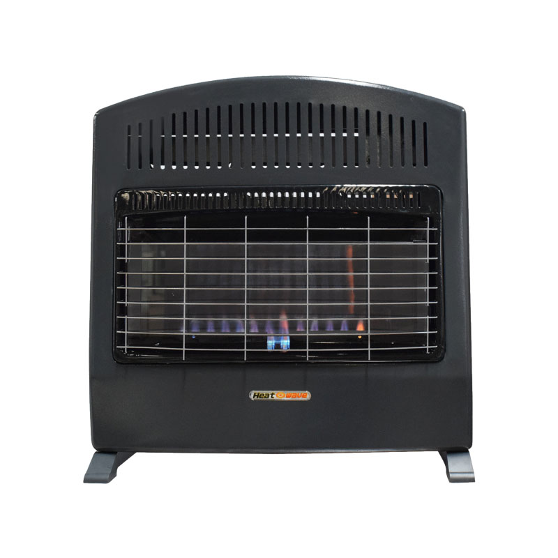 Calefactor Calentador de Pared Flama Azul 30,000 BTU Gas Natural Negro HG90W-BF-NAT Heat Wave